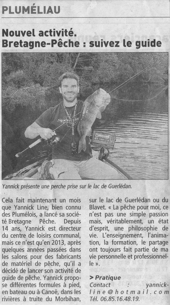 Article du Télégramme 08 aout 2013